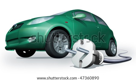 electrocar - stock photo