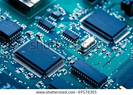 electronic board - stock photo