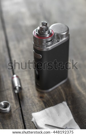 Electronic cigarette Atomizer Replacement Head in close up - stock photo