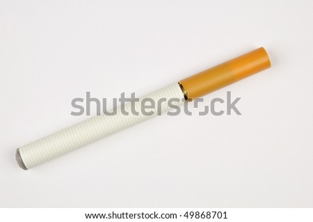 Electronic cigarette - closeup isolated on white background - stock photo
