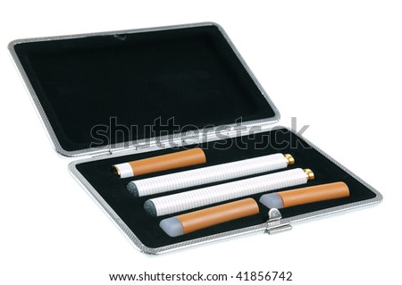 Electronic cigarette in a case - stock photo