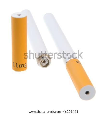 Electronic cigarette isolated on white background - stock photo