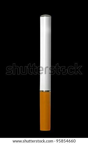 electronic cigarette on black background - stock photo