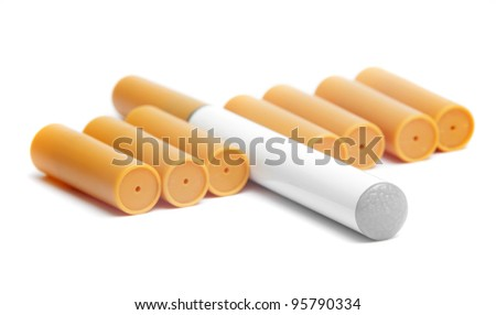 electronic cigarette with filters closeup - stock photo