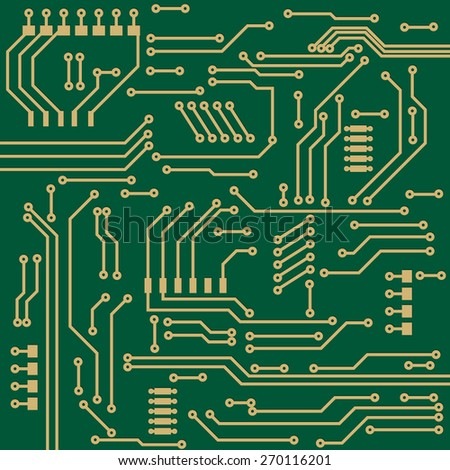 Electronic circuit background. Raster version
