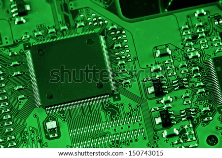 Electronic circuit board. Macro photo. Great details !