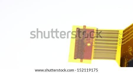 Electronic circuit covered of plastic