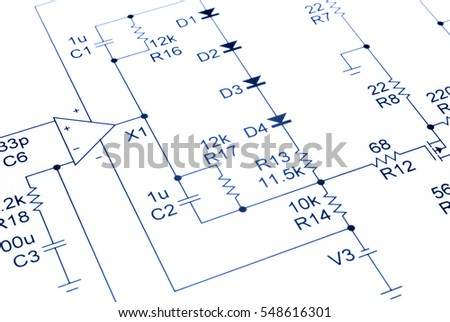 Electronic Circuit Diagram Blue Our Own Stock Photo & Image (Royalty ...