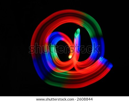 Electronic Communication Simbol - stock photo