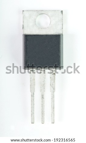 Electronic component part  isolated with white background