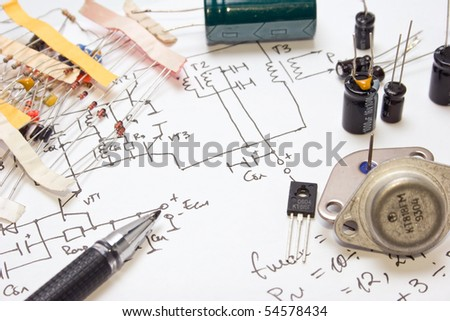 electronic components on the written scheme