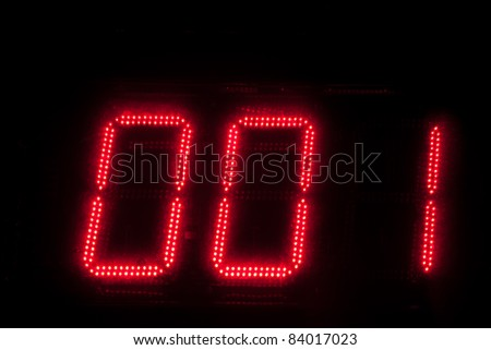 Electronic digital numbers - stock photo