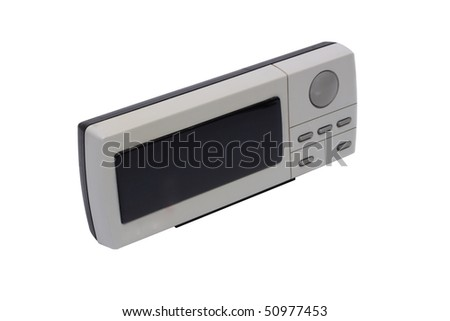 Electronic digital watch. Isolated object on a white background - stock photo