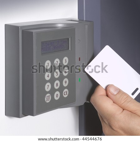 Electronic door lock, opening by security card