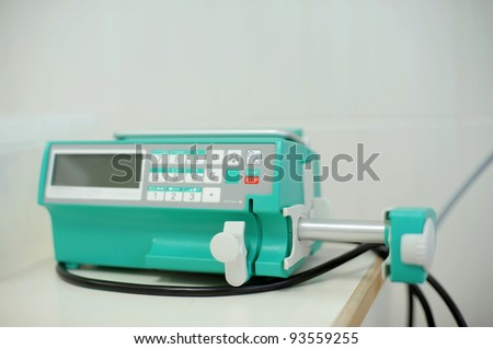 Electronic equipment at maternity clinic's room - stock photo