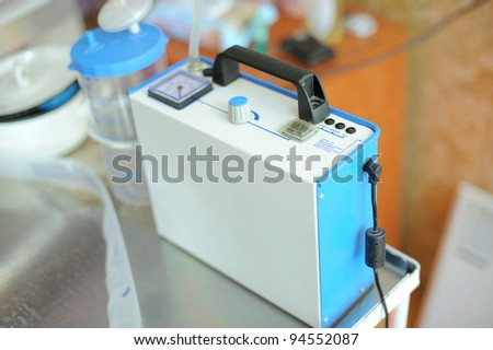 Electronic equipment for maternity clinic - stock photo