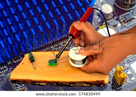 Electronic equipment repairing in service centre