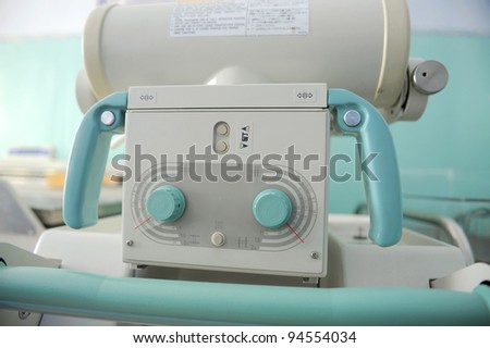 Electronic equipment with handles - stock photo