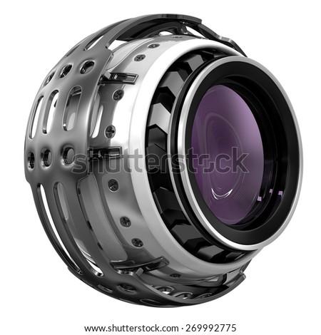 electronic eye camera - stock photo