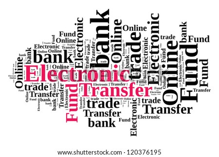Electronic Fund Transfer in word cloud - stock photo