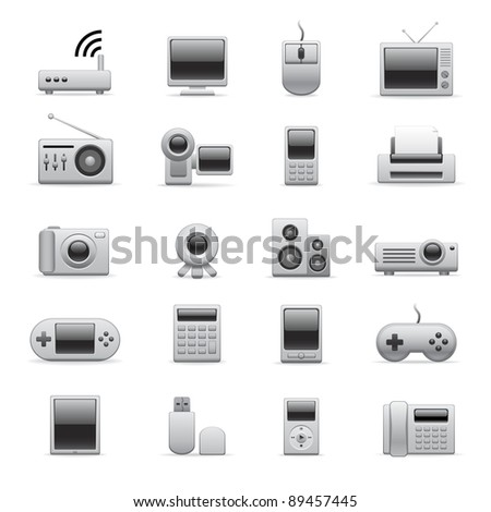electronic icons for your website or presentation - stock photo