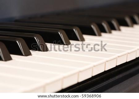 Electronic keyboard - stock photo