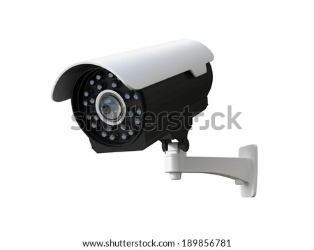 Electronic organic hybrid eyeball CCTV security camera concept. - stock photo