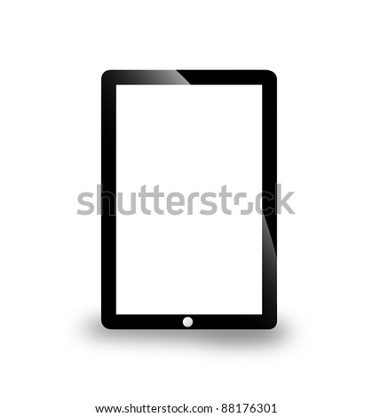 Electronic pad - stock photo