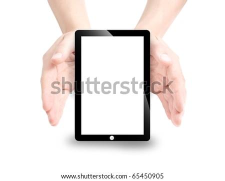 Electronic Pad Screen - stock photo