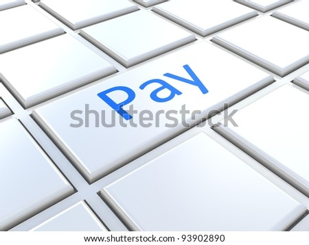 Electronic payment concept, 3D images - stock photo