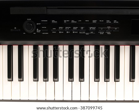 electronic piano on a white background. isolate - stock photo