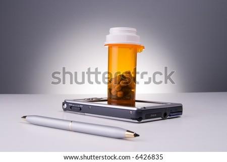 Electronic prescription - stock photo