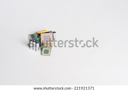 Electronic recycling concept - stock photo