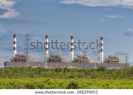 Electronic refinery - stock photo