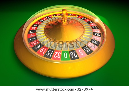 Electronic roulette 3D rendering