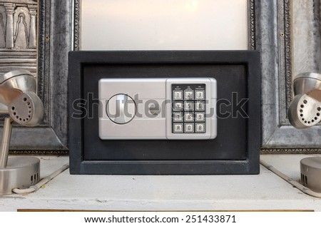 Electronic safe  with code lock - stock photo