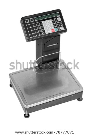 electronic scale isolated on a white background