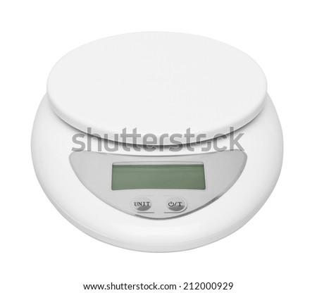 Electronic Scale isolated on white background - stock photo