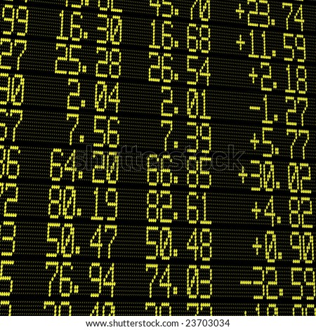 electronic stock exchange board - stock photo