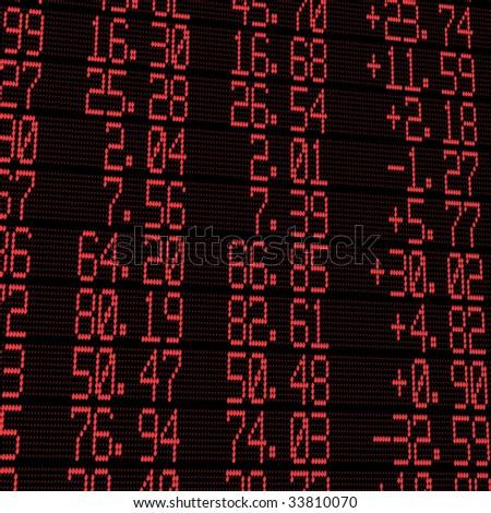 electronic stock exchange board - stock photo