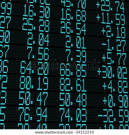 electronic stock exchange panel - stock photo