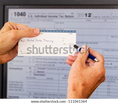 Electronic Tax Form 1040 2012 Us Stock Photo 111061364 Shutterstock