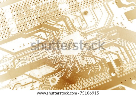 electronic texture-orange tones - stock photo