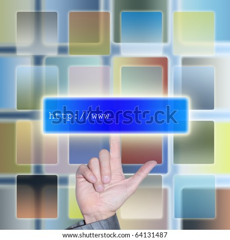 Electronic the Internet mail delivers the sent information to the addressee instantly - stock photo