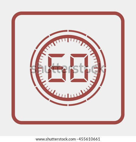Electronic timer 60 seconds. - stock photo