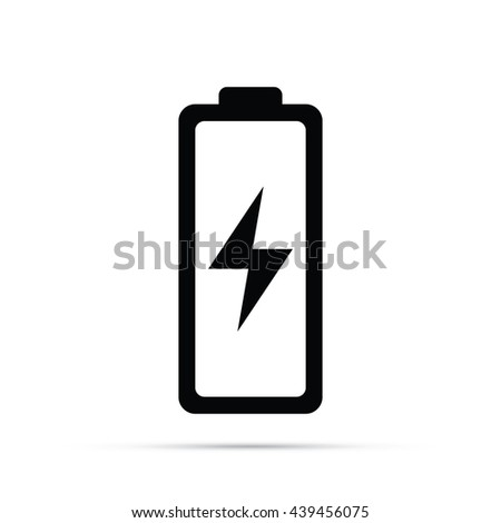Electronics Battery Icon.  Raster Version - stock photo