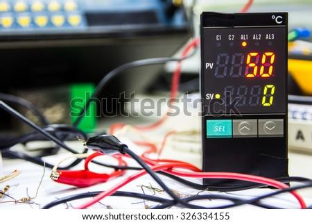 Electronics circuit repair service - stock photo