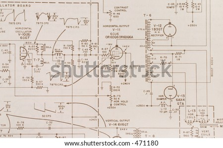Electronics schematic - stock photo