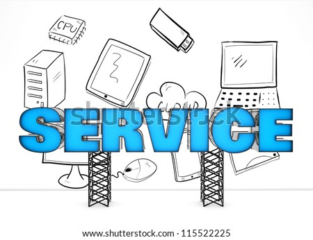 Electronics service concept - stock photo