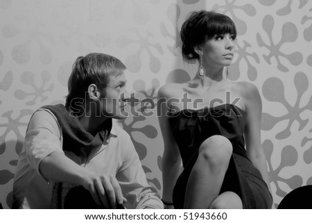 Elegan couple - stock photo